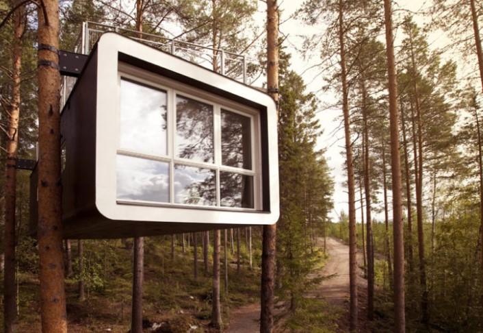 Harads, Treehotel, 幽浮旅店, 旅店, 树屋酒店, 瑞典