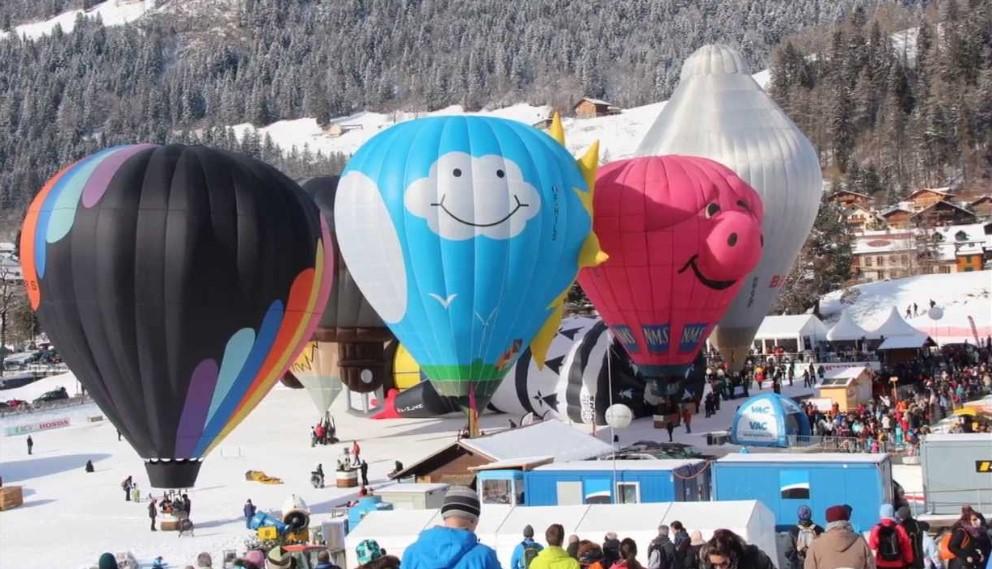 瑞士代堡国际热气球嘉年华