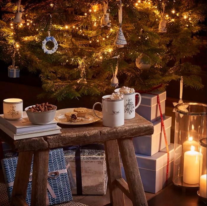 蓝白圣诞倒数日历