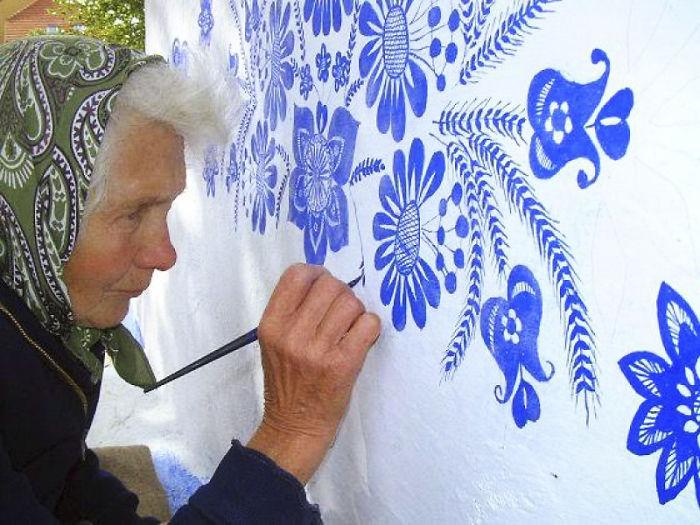 Anežka,90岁奶奶手绘,捷克