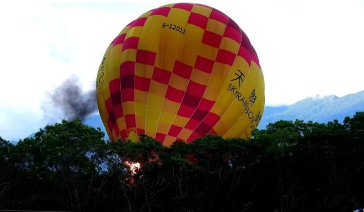 国际热气球池上首航